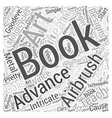 Books for Beginners to Advanced on Airbrush Art vector image vector image