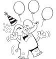 Carton elephant with balloons vector image