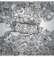 Cartoon doodles hand drawn school vector image vector image