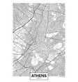 city map athens travel poster design vector image