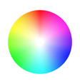 color wheel palette rgb ryb cymk system color vector image vector image