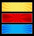 comic horizontal banners vector image