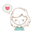 cute girl cartoon stylish outfit portrait speech vector image
