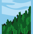edge a dense forest vector image