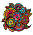 ethnic mehndi ornament indian style doudles vector image vector image