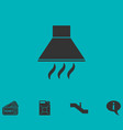 extractor hood icon flat vector image vector image