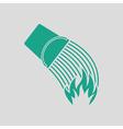 Fire bucket icon vector image vector image