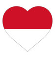 flag in heart sign flag in shape heart vector image vector image