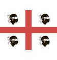 flag sardinia vector image vector image