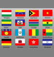 flags of all countries of the world part 3 vector image