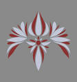 flat icon on theme arabic business oriental flower vector image
