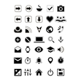 Flat icons universal symbols vector image