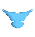 flying dove - cartoon paper vector image