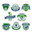 football isolated icons for sport bar vector image vector image