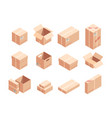 fragile parcels isometric 3d vector image