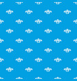 fresh eco beef pattern seamless blue vector image