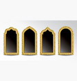 glittering arabic windows vector image