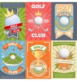 Golf club posters vector image vector image