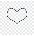 heart concept linear icon isolated on transparent vector image