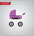 isolated pram flat icon stroller element vector image vector image