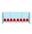 isolated soccer benches vector image
