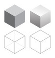 isometric 3d square cubes vector image