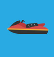 jet ski icon set of great flat icons for vector image