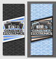 layouts for consumer electronics vector image