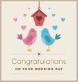 Love birds wedding card vector image vector image