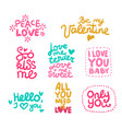 love labels set vector image