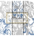 Marble texture set Hand drawn ink marble vector image vector image