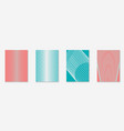 minimalistic cover template set with gradients vector image vector image