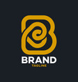 modern bakery and letter b logo vector image vector image