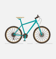 mountain bike on white background vector image vector image