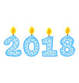 new year 2018 figures numbers of candles vector image vector image