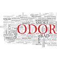 odor word cloud concept vector image