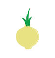 Onion flat icon vector image vector image
