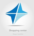 Originally designed shopping center business icon vector image