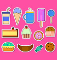 party big set with different sweets - cake ice vector image vector image