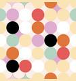 red green yellow orange lavander indigo circles vector image vector image