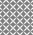 Repeating monochrome curved shape pattern vector image vector image