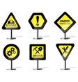 Road Sign Icons vector image
