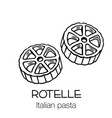 rotelle pasta outline icon vector image