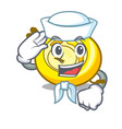 sailor cd player character cartoon vector image vector image
