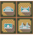 seamless background with different bridges vector image vector image