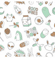 seamless pattern background with doodles vector image vector image