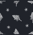 seamless pattern with hand drawn chalk vector image