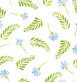 Seamless Patterns with watercolor cornflowers vector image vector image