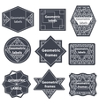 Set quality mark vintage sale vector image