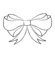 sketch draw christmas bow cartoon vector image vector image